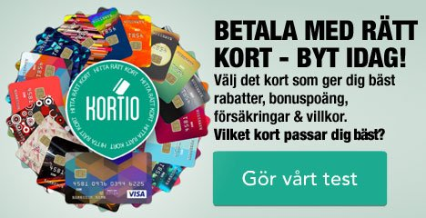 Kortios kreditkortstest