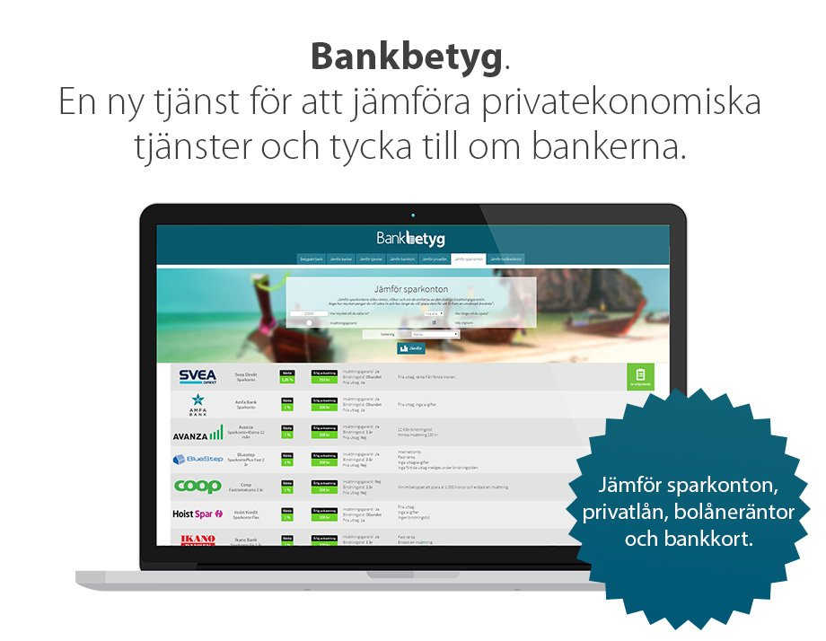 Bankbetyg-Jamfor-ekonomitjänster